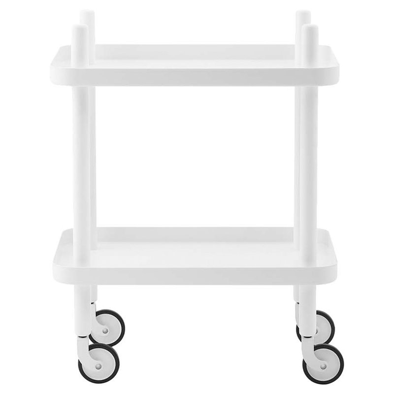 Normann Copenhagen Block table trolley, all white