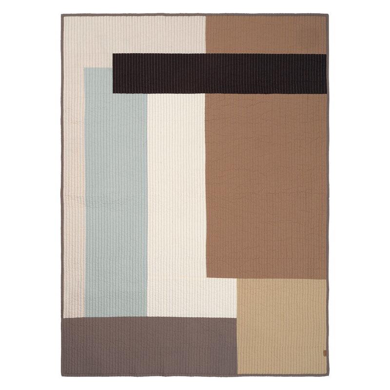 Ferm Living Shay tilkkupeitto, 130 x 180 cm, desert