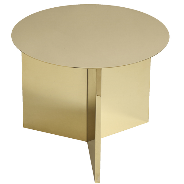 Hay Slit table, round, brass