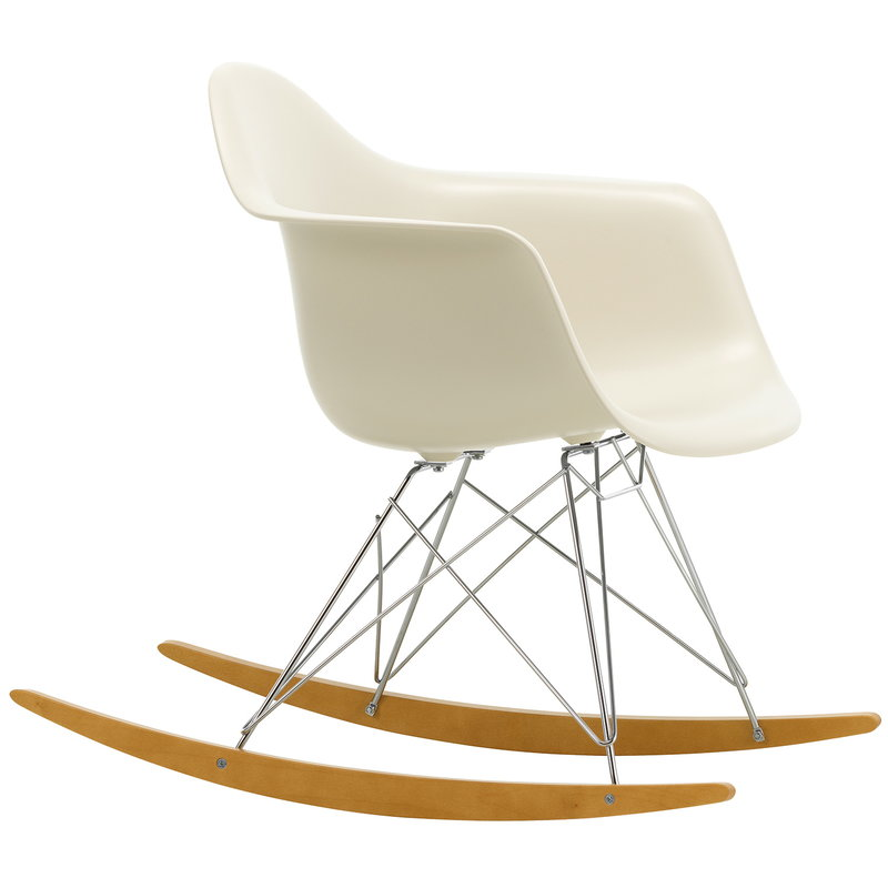 Vitra Eames RAR rocking chair, pebble - chrome - maple