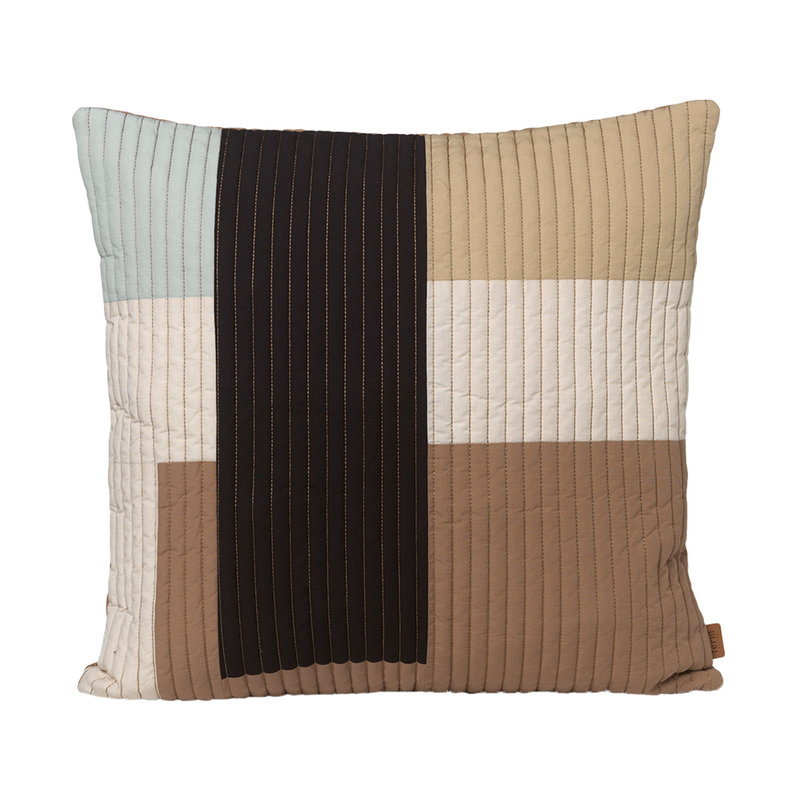 Ferm Living Shay quilt cushion, 50 x 50 cm, desert