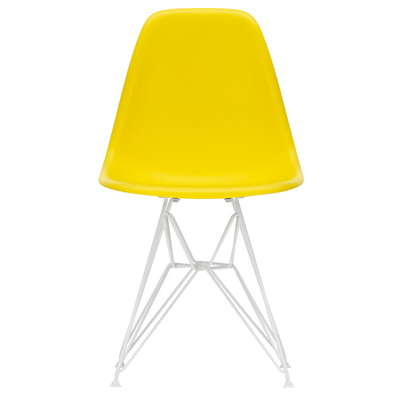 Vitra Eames DSR chair, sunlight - white