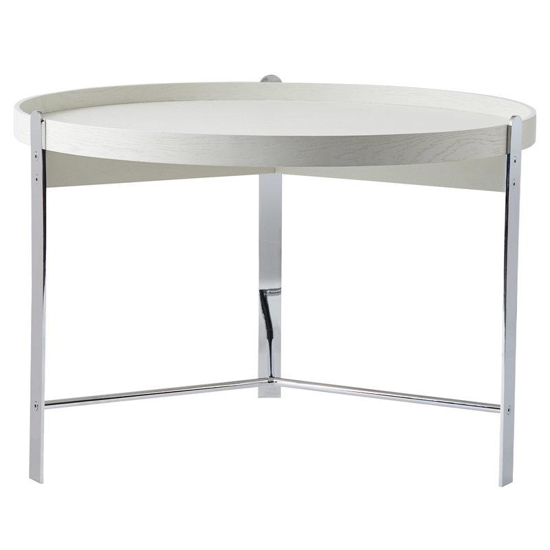 Warm Nordic Compose coffee table, 70 cm, white - chrome