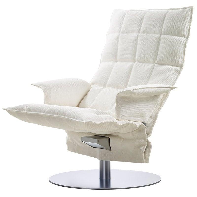 Woodnotes K tuoli käsinojilla, pyörivä, valkoinen