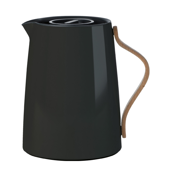 Stelton Emma vacuum jug for tea, black