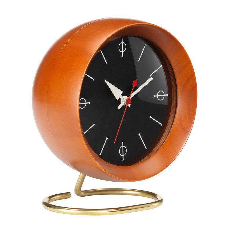 Vitra Chronopak table clock, walnut veneer