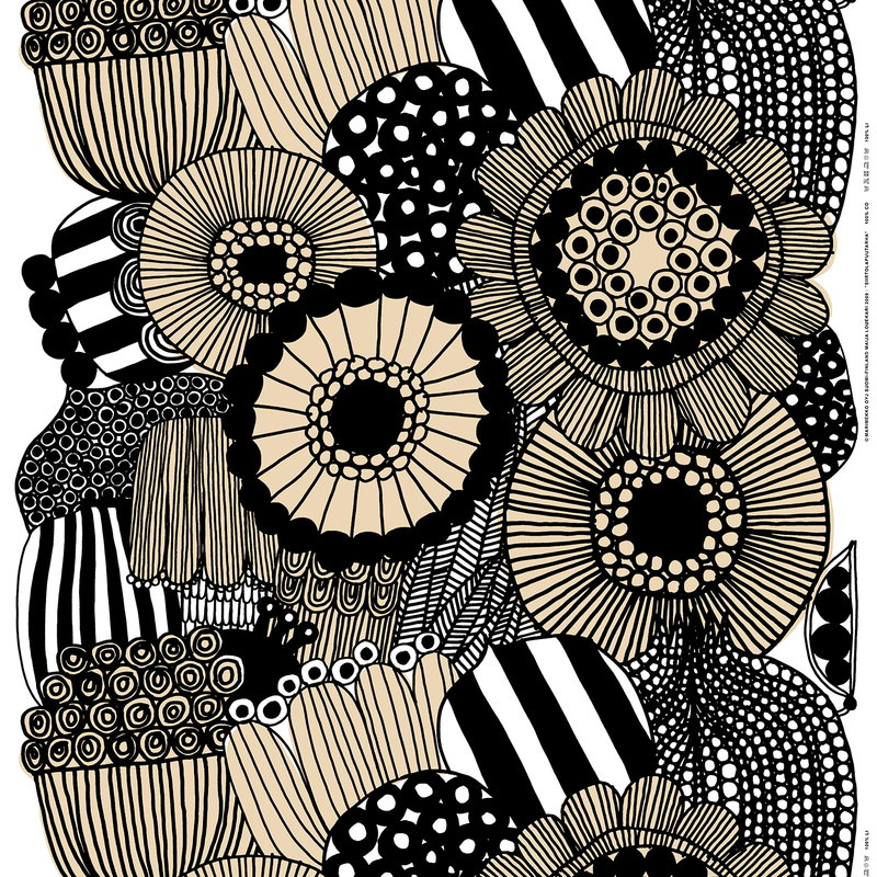 Marimekko Siirtolapuutarha cotton/linen fabric, light beige