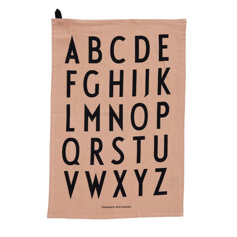 Design Letters Classic keittiöpyyhe, 2 kpl, nude