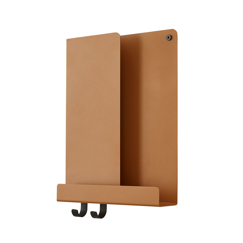 Muuto Folded shelf, burnt orange, vertical