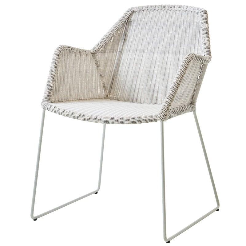 Cane-line Breeze tuoli, harmaanvalkoinen