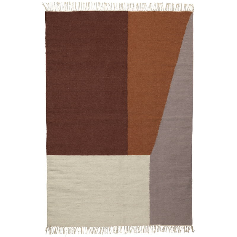 Ferm Living Kelim matto, Borders, 160 x 250 cm