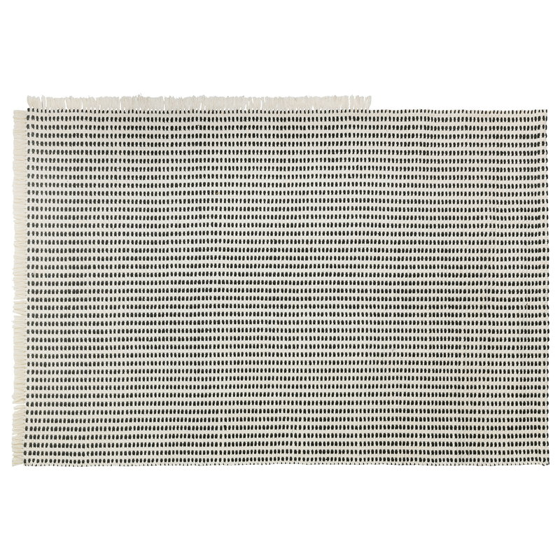 Ferm Living Way matto, 140 x 200 cm, luonnonvalkoinen - tummansininen