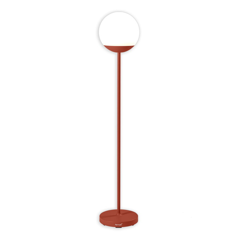 Fermob Mooon Tall Floor Lamp Red, Tall Red Lamp