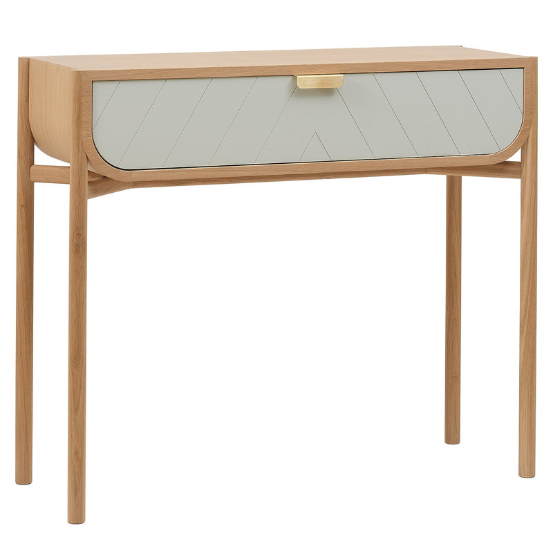 Pleasing Marius Console Table Oak Light Grey Gmtry Best Dining Table And Chair Ideas Images Gmtryco
