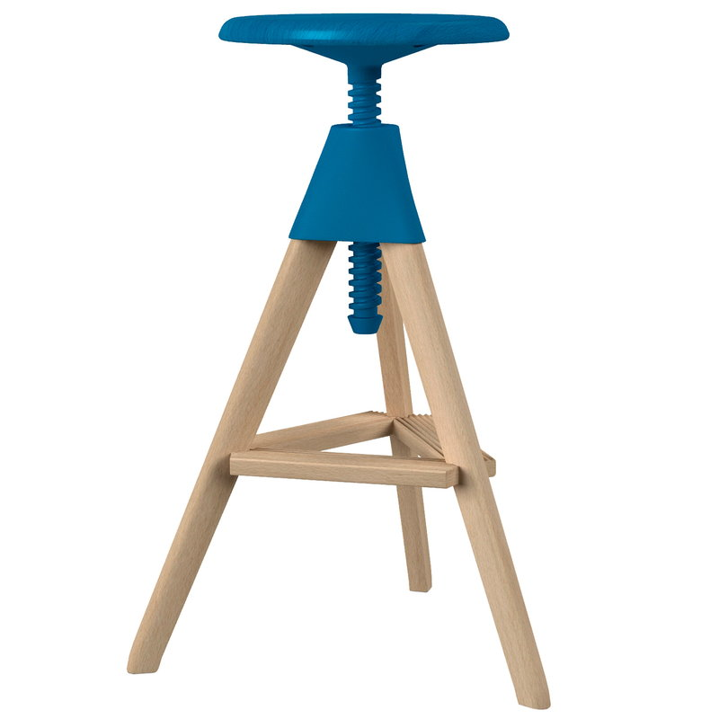 Magis Tom bar stool, beech - light blue