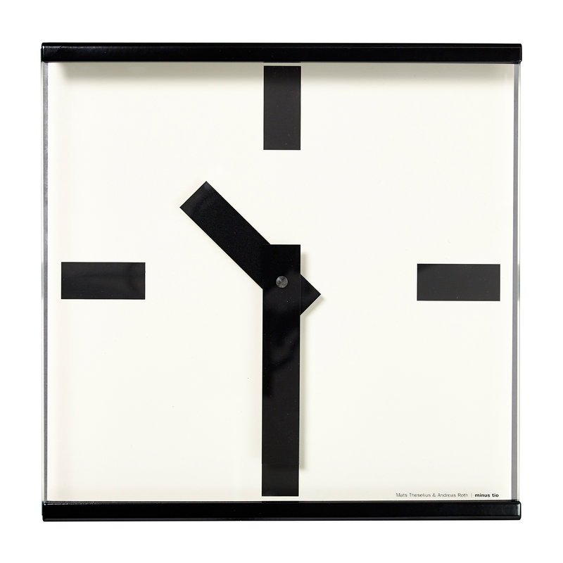 Minus Tio 24 hours wall clock, black