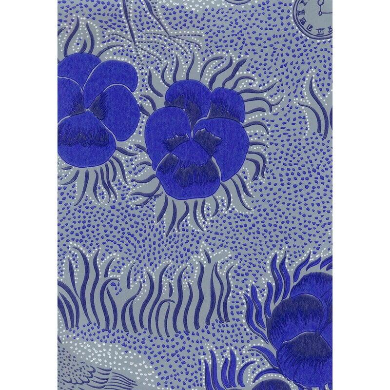 Pihlgren ja Ritola Kiurujen yö wallpaper, cobalt blue - grey