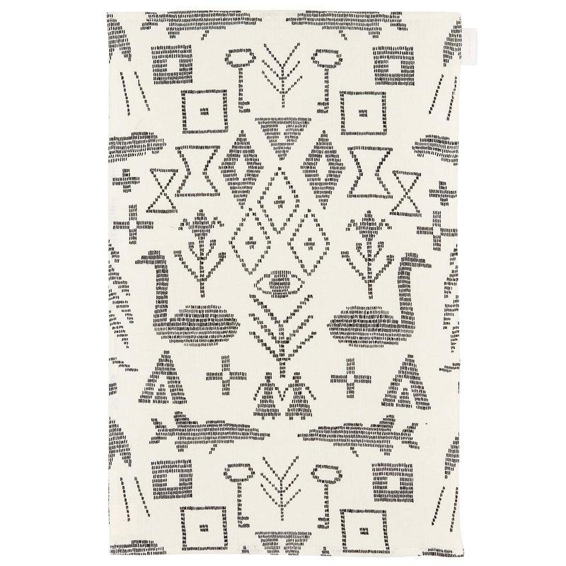 Saana ja Olli Maailman synty tea towel/placemat, large, white