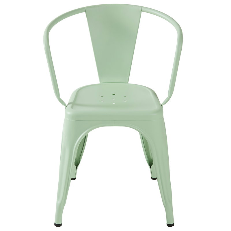 Tolix A56 chair, anise