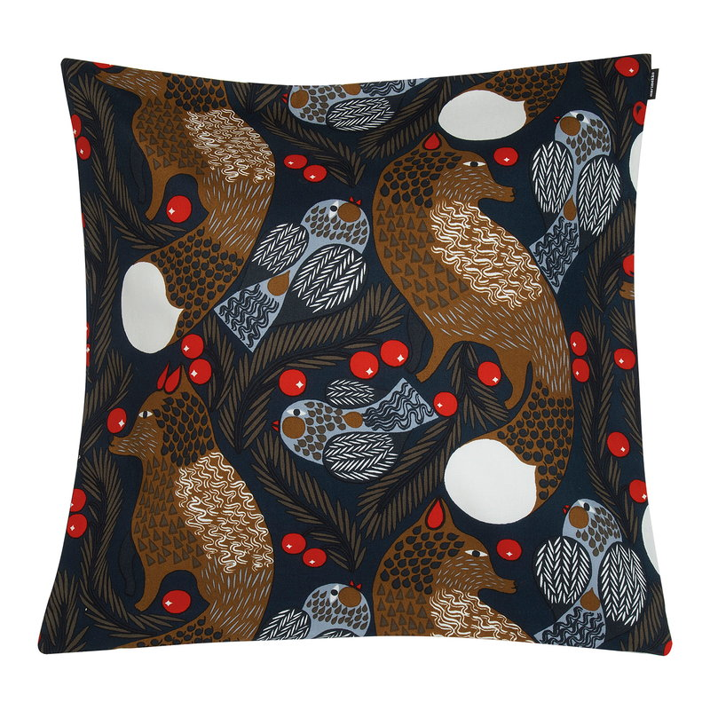 Marimekko Ketunmarja cushion cover 50 x 50 cm, dark blue - brown