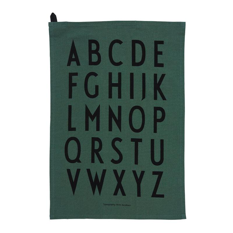 Design Letters Classic tea towel, set of 2, dark green