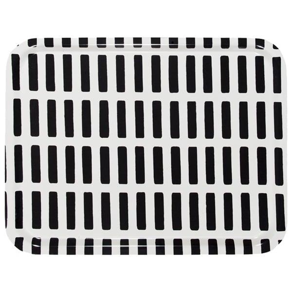 Artek Siena tray, white-black, 43 x 33 cm