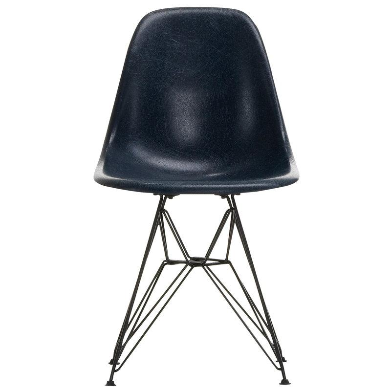 Vitra Eames DSR Fiberglass Chair, navy blue - black
