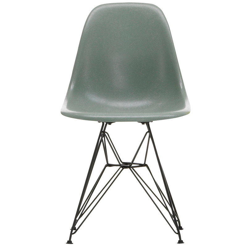Vitra Eames DSR Fiberglass Chair, sea foam green - black