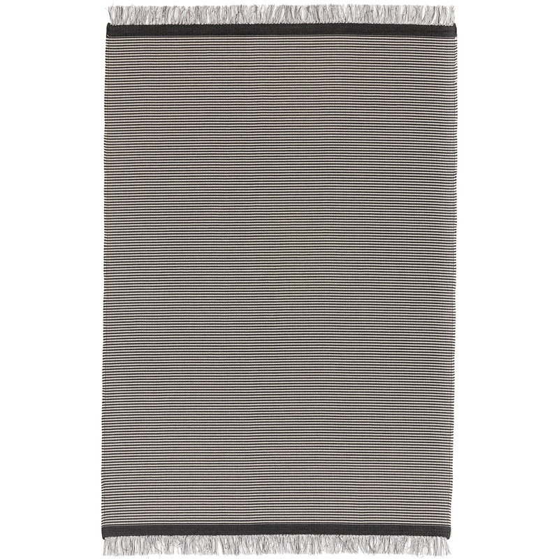 Woodnotes River rug, graphite - light sand