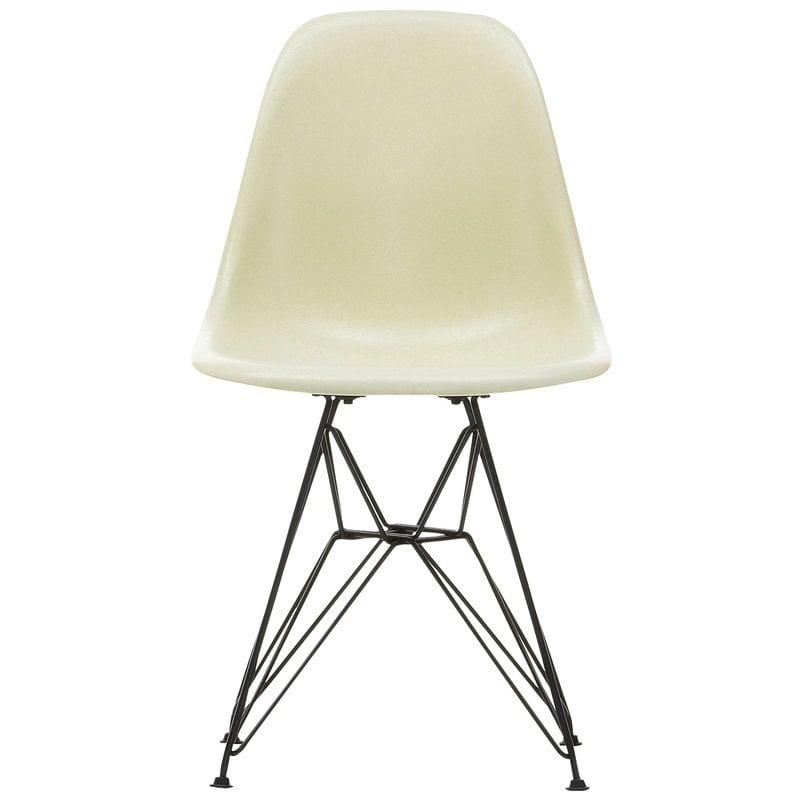 Vitra Eames DSR Fiberglass Chair, parchment - black