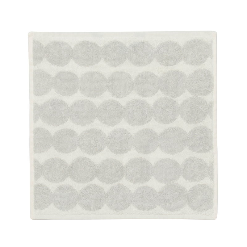 Marimekko Räsymatto mini towel, white - grey