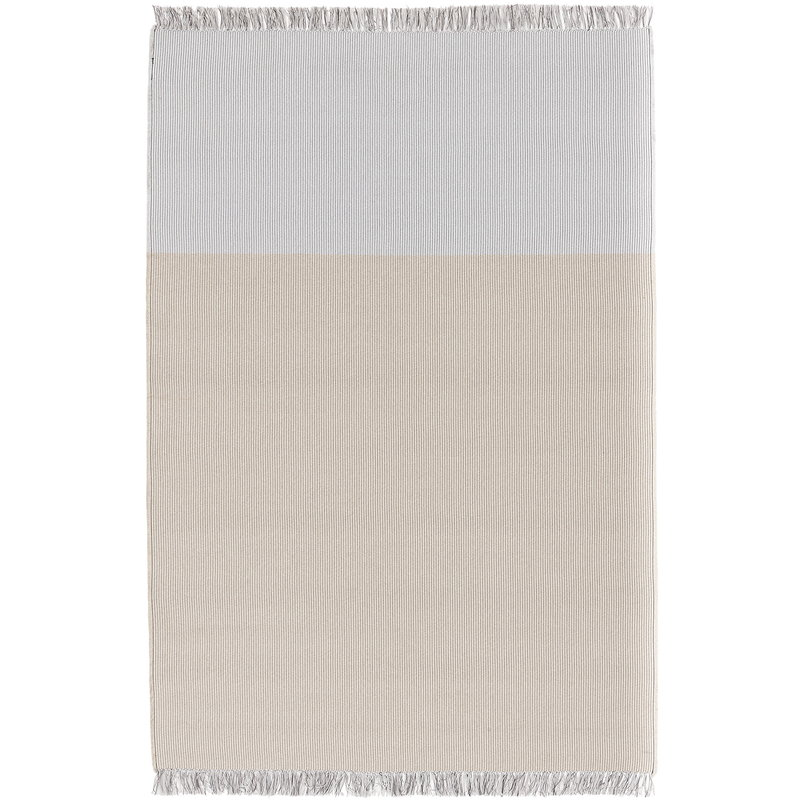 Woodnotes Pond rug, light sand - pearl grey