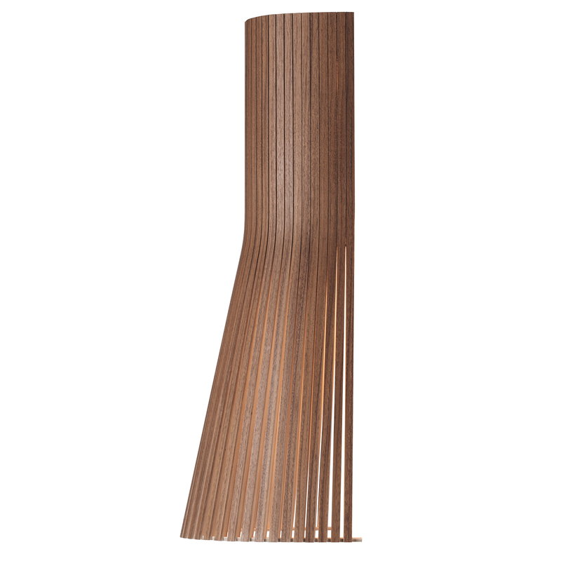 Secto Design Secto 4231 wall lamp 45 cm, direct wall mount, walnut