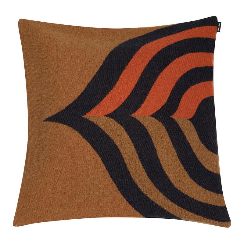 Marimekko Keisarinkruunu tyynynpäällinen 50 x 50 cm, ruskea-musta-oranssi
