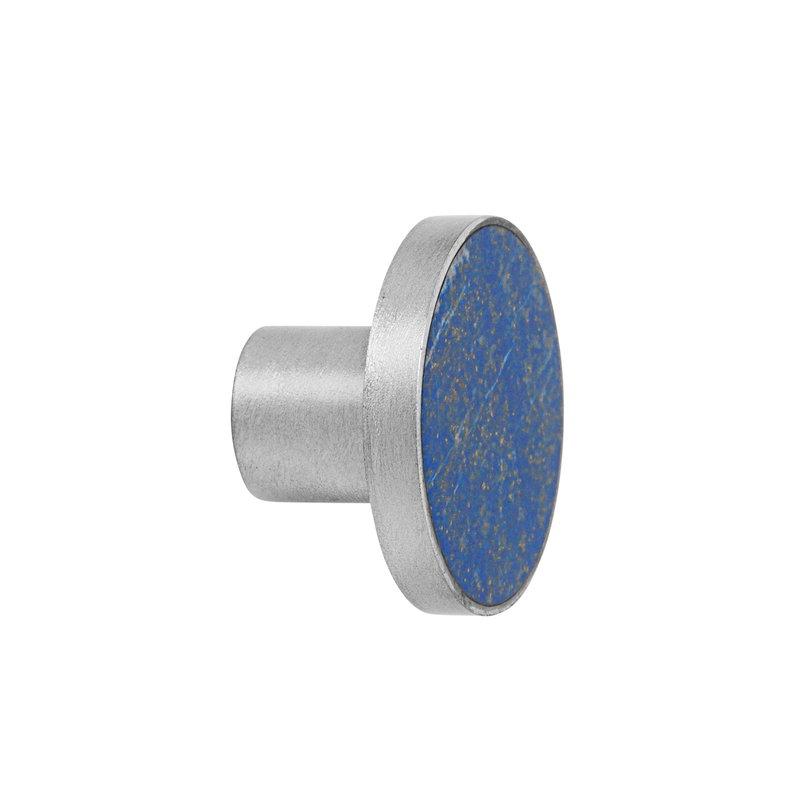 Ferm Living Hook, large, steel - blue lapis lazuli