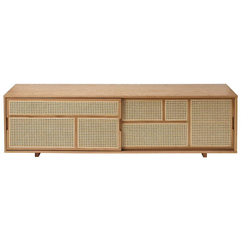 Design House Stockholm Air sideboard, low, oak - cane