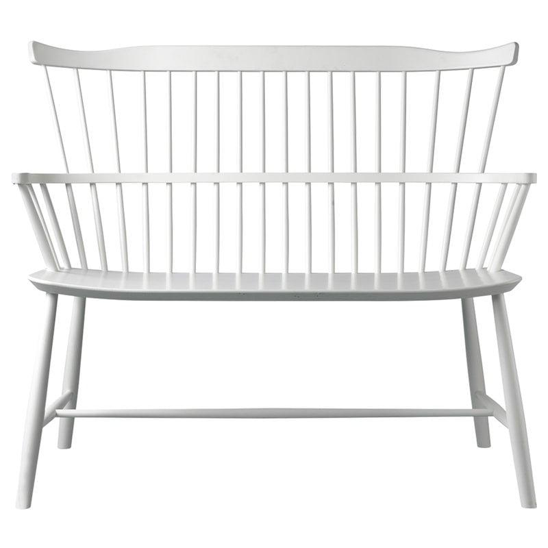 FDB Møbler J52D bench, white