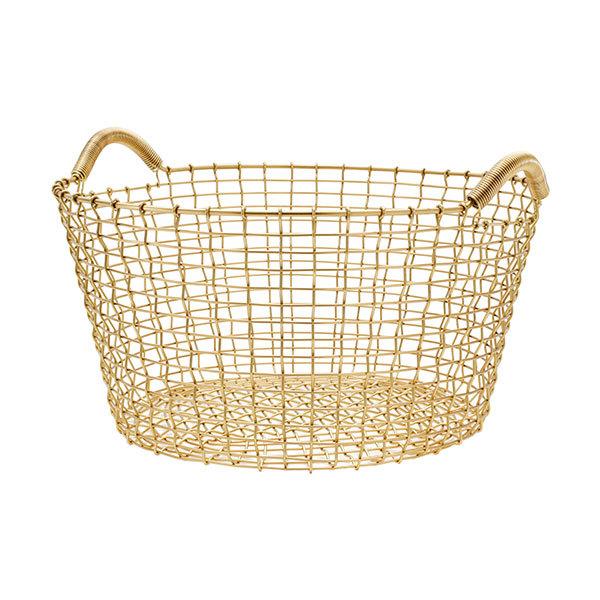 Korbo Wire basket Classic 35, brass
