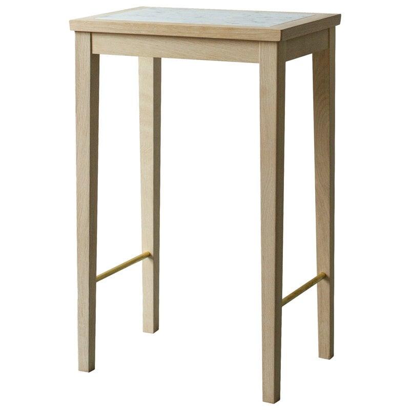 Sibast No 1 side table, 35 x 25 cm, soaped oak - white marble