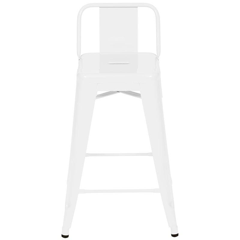 Tolix Bar chair H60, low backrest, blanc brilliant