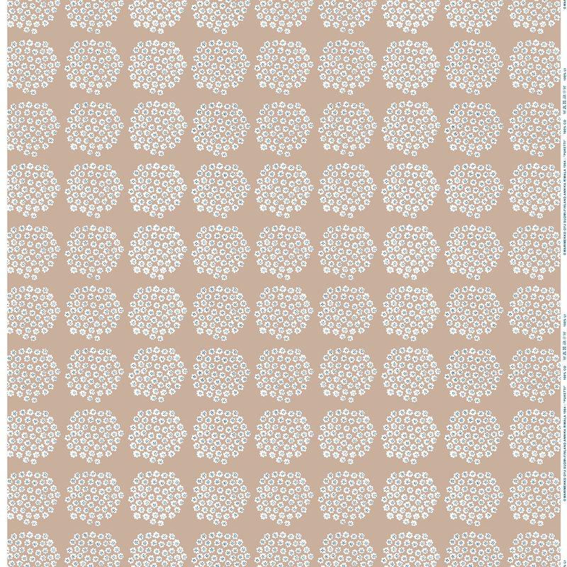 Marimekko Puketti fabric, beige - white