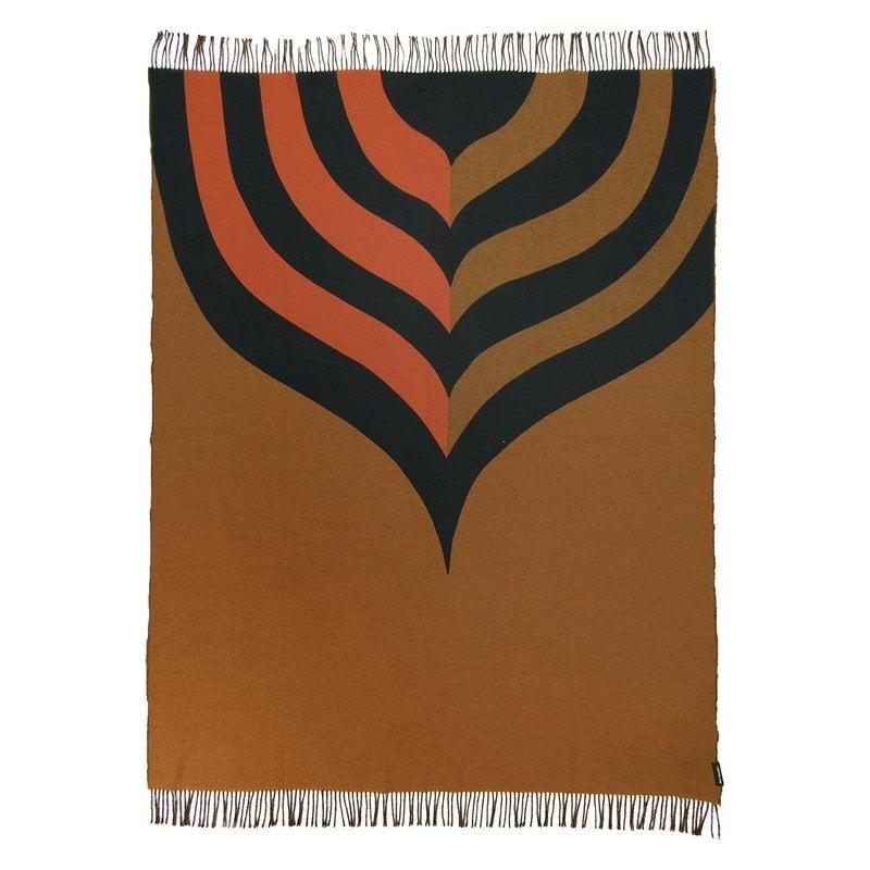 Marimekko Keisarinkruunu blanket, brown - black - orange