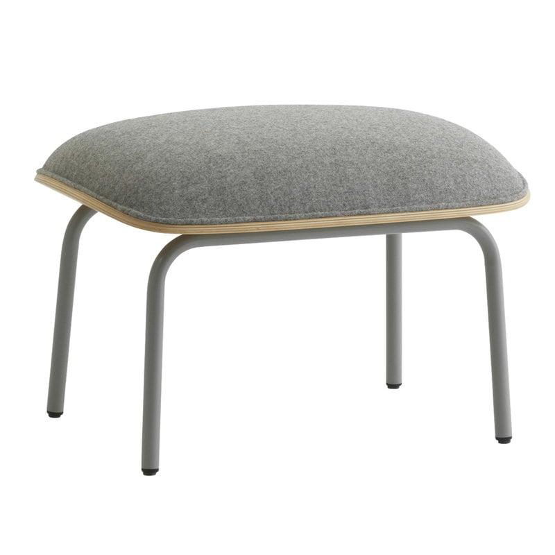 Normann Copenhagen Pad footstool, grey steel - oak - Synergy LDS 16
