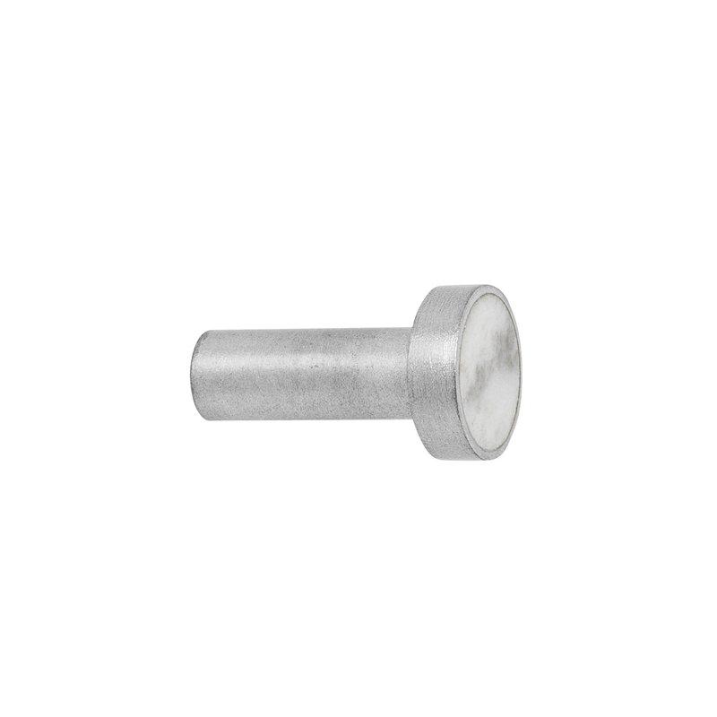 Ferm Living Hook ripustin, pieni, teräs - valkoinen marmori