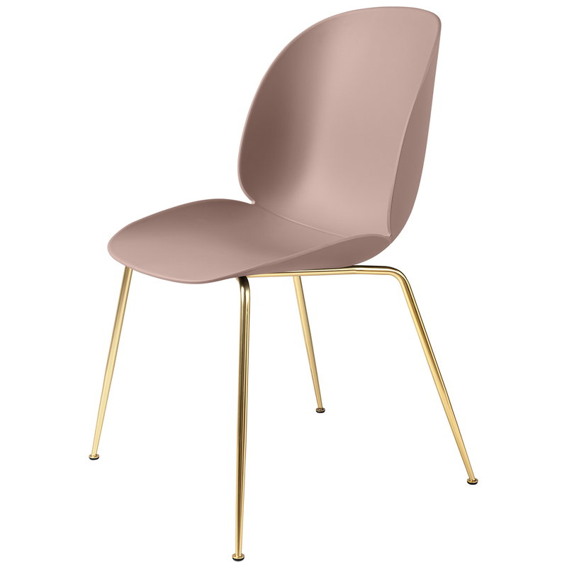 Gubi Beetle chair, brass - sweet pink