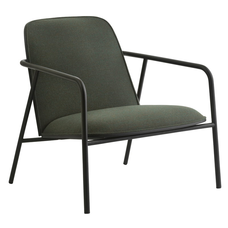 Normann Copenhagen Pad lounge chair low, black steel - black - Synergy LDS 41