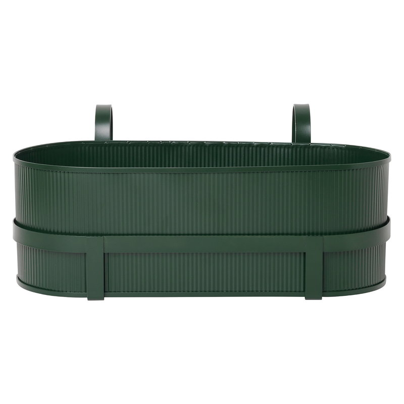Ferm Living Bau balcony box, dark green
