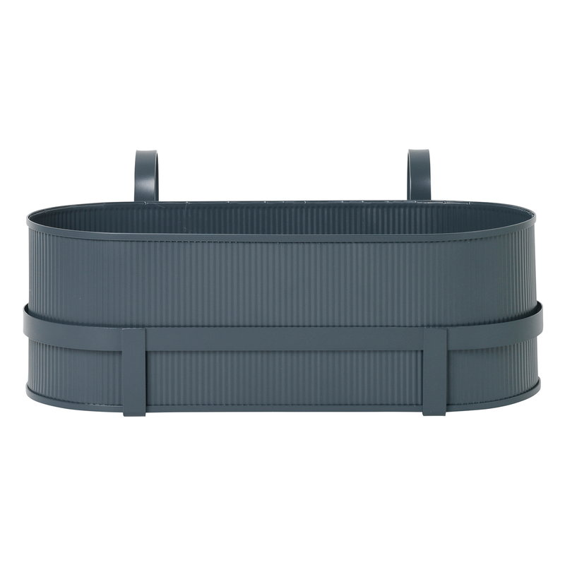 Ferm Living Bau balcony box, dark blue