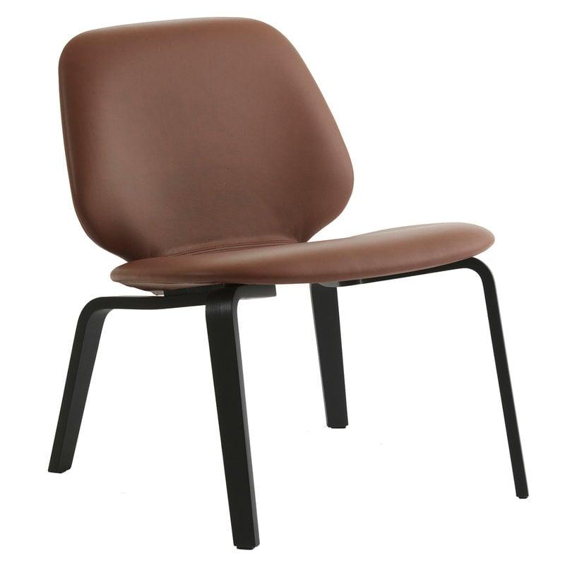 Normann Copenhagen My Chair lounge chair, black - cognac leather