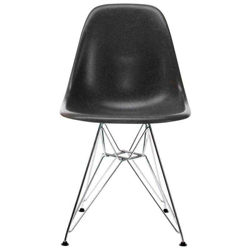Vitra Eames DSR Fiberglass Chair, elephant hide grey - chrome